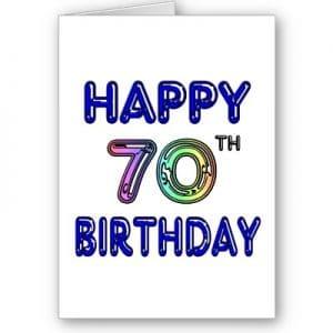Mensaje de feliz cumpleanos 70