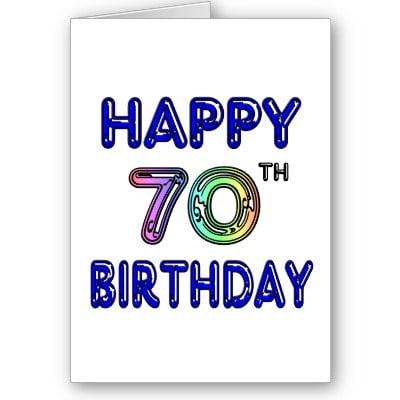 Felicitaciones de cumpleaños para 70 años
