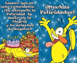felicitaciones de cumpleaños graciosas y originales